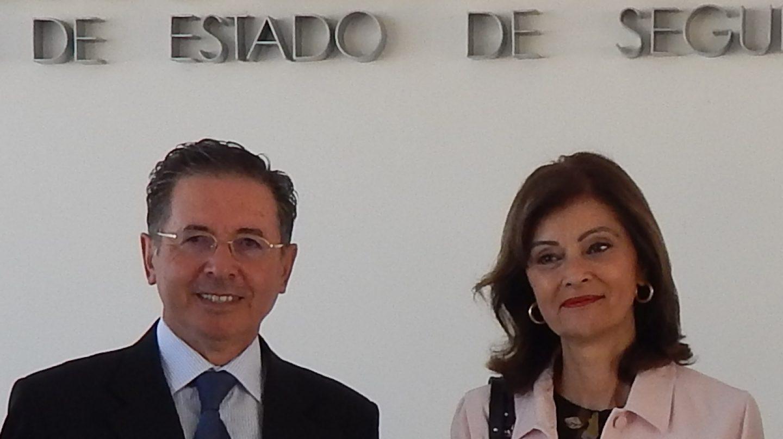 La secretaria de Estado de Seguridad, Ana Botella, y el director del Gabinete de Coordinación y Estudios, José Antonio Rodríguez 'Lenin'.