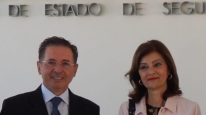 El comisario de Policía José Antonio Rodríguez 'Lenin' y la secretaria de Estado de Seguridad, Ana Botella.