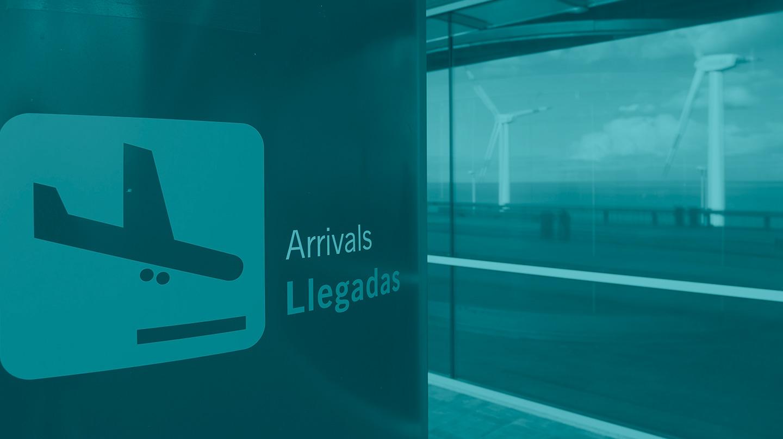 Interior del aeropuerto de La Palma, gestionado por Aena.