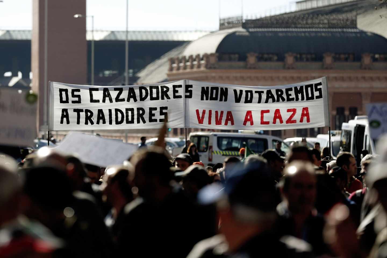 """Manifestación del mundo rural en Madrid: """"Los cazadores no votaremos a traidores"""""""