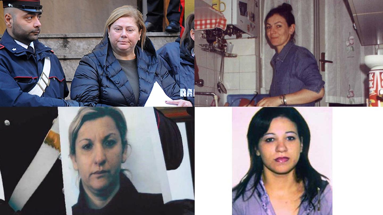 En sentido horario de izquierda arriba: Maria Angela Di Trapani, Lea Garofalo, Teresa Marino, Concetta Cacciola
