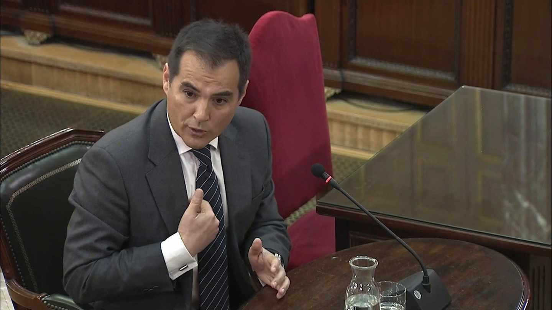 José Antonio Nieto, ex secretario de Estado de Seguridad, durante su declaración este lunes en el Tribunal Supremo.