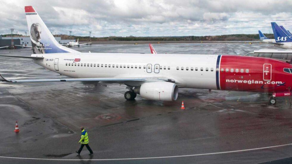 Un avión de Norwegian del modelo Boeing 737 MAX.