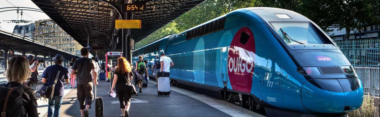 Tren de bajo coste 'Ouigo', operado por la SNCF en Francia.