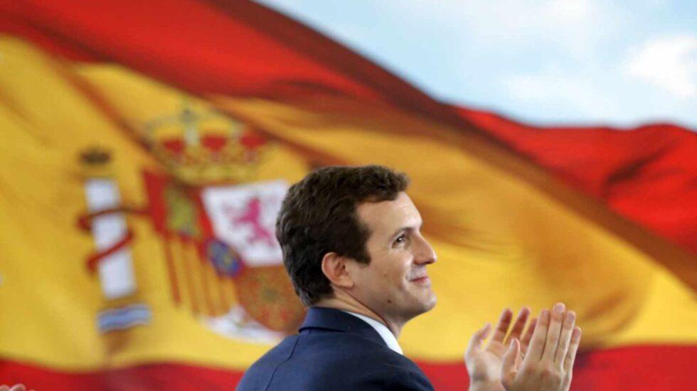 Pablo Casado, en un reciente acto de su partido