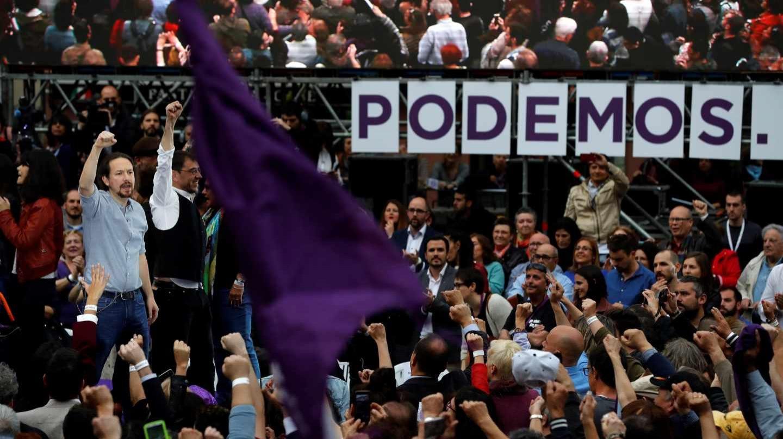 Pablo Iglesias, en el acto de su reaparición en Madrid.