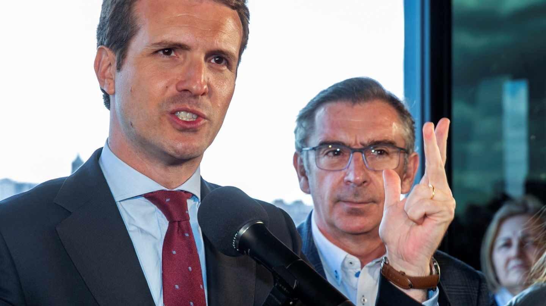 Pablo Casado, durante un acto con militantes en Zaragoza.