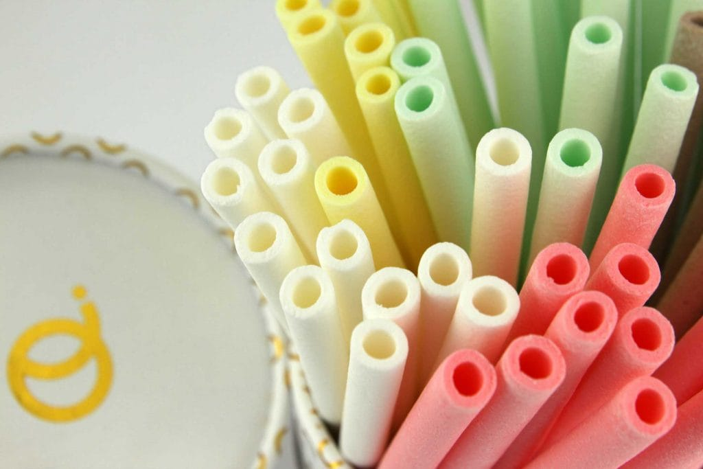 Las pajitas comestibles, una alternativa al plástico.