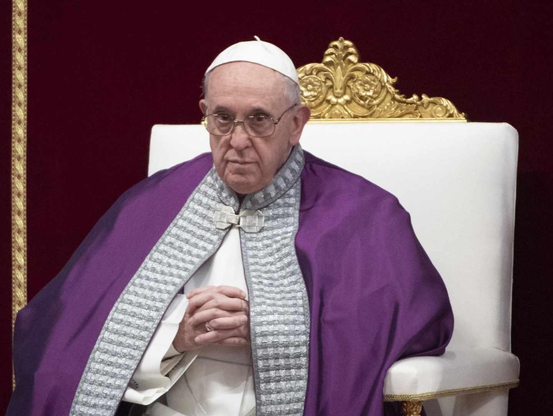 El Papa Francisco, durante una misa en el Vaticano.