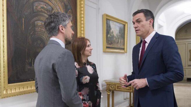 Pedro Sánchez, instantes antes de la entrevista concedida a los informativos de TVE en el mes de febrero.
