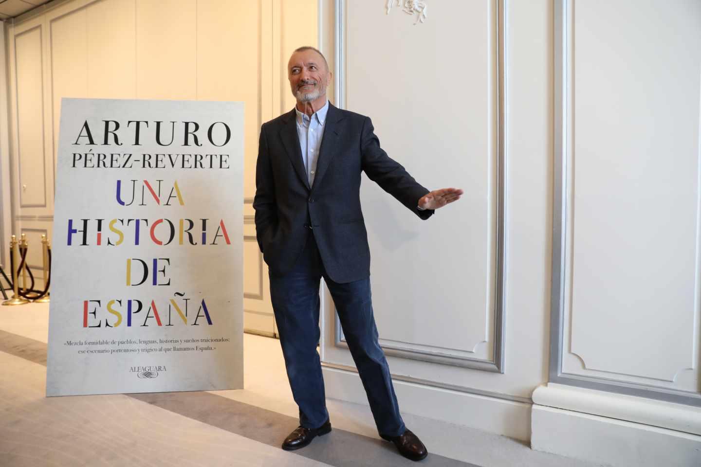Arturo Pérez-Reverte, en la presentación de 'Una historia de España'.