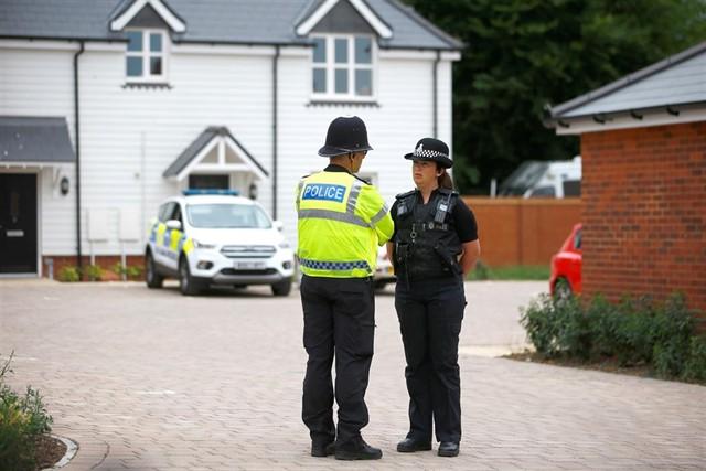 Policía británica.