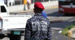 Agente de la Policía Nacional Bolivariana, en Caracas.