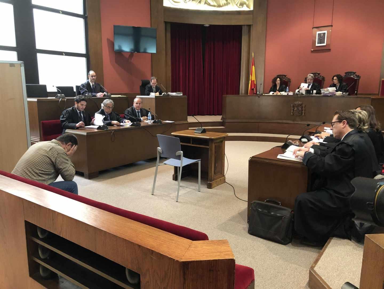 El profesor de los Maristas durante el juicio