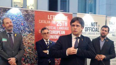 Carles Puigdemont, candidato de Junts per Catalunya a las elecciones europeas