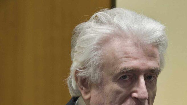 Radovan Karadzic, durante la lectura de su veredicto en La Haya, este miércoles 20 de marzo de 2019.