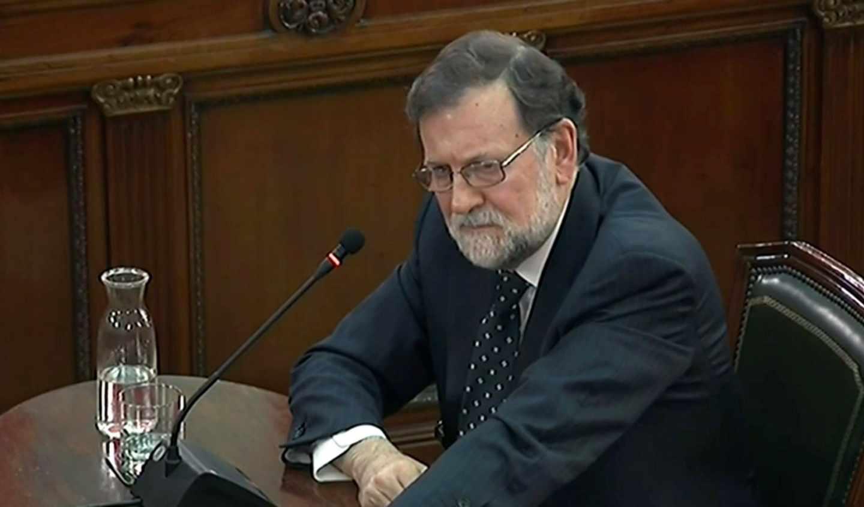 Mariano Rajoy, durante su declaración en el Supremo.