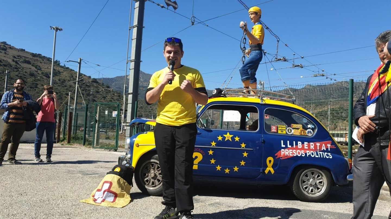 Manifestación a favor de la república catalana.