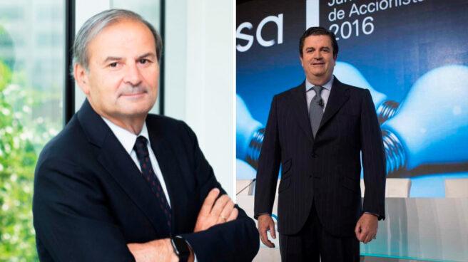 El futuro presidente de Endesa, Juan Sánchez-Calero, y el presidente saliente, Borja Prado.