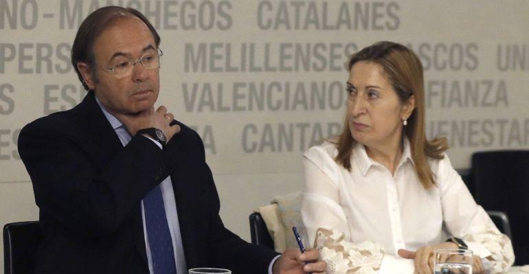 Los casi ya ex presidentes de Senado y Congreso, Pío García Escudero y Ana Pastor, respectivamente