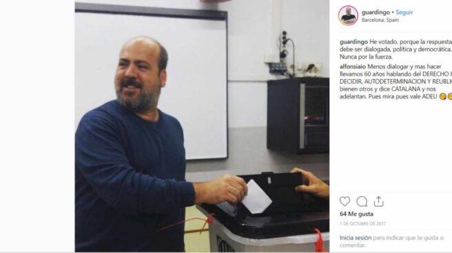 El senador de Podemos, Óscar Guardingo.