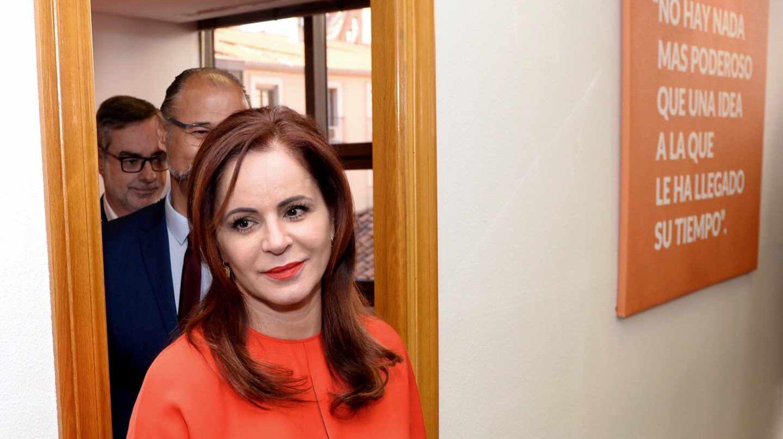 Silvia Clemente, durante su presentación como candidata a las primarias de Ciudadanos en Castilla y León.
