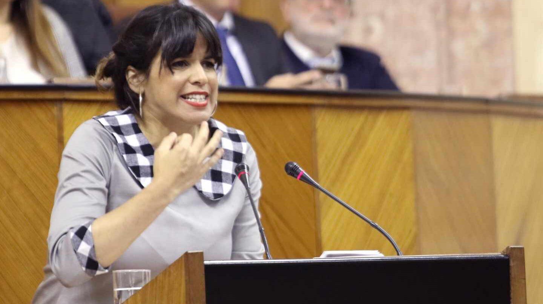 Teresa Rodríguez, en el parlamento andaluz.