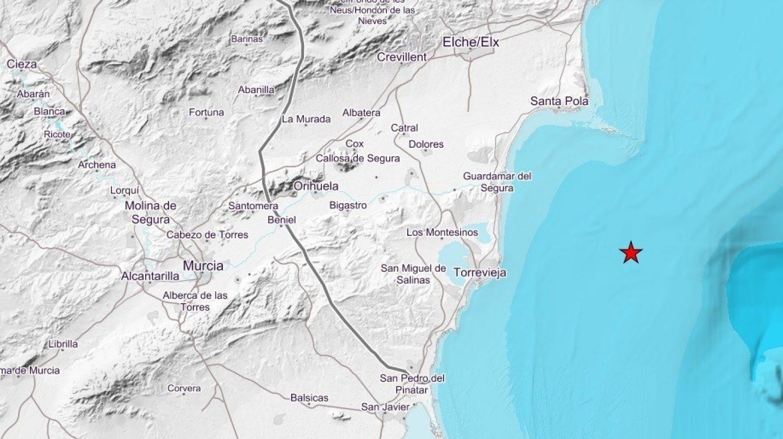 Lugar donde se ha originado el terremoto.