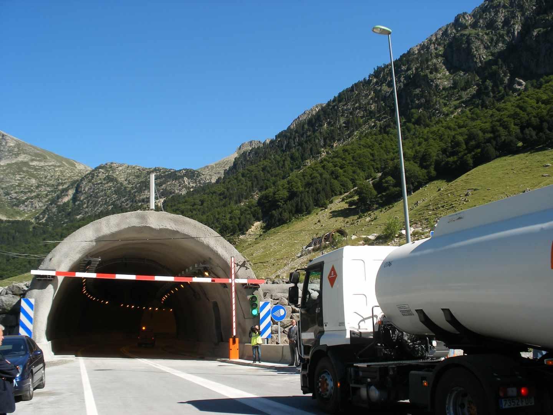 Túnel de Vielha, que da entrada al Valle de Arán desde la comarca de Alta Ribagorza (Lérida)