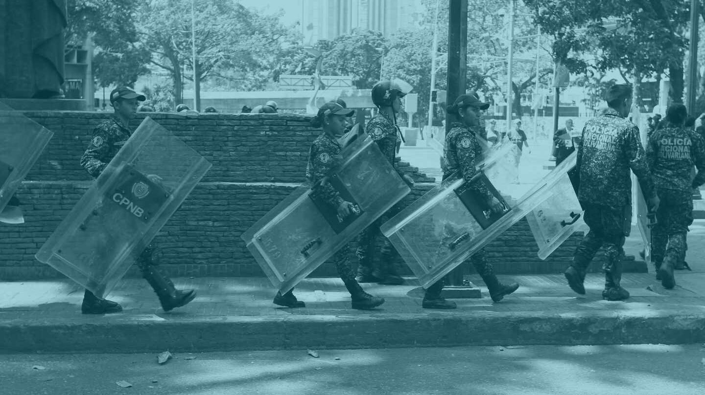 La Policía Nacional Bolivariana (PNB) de Venezuela.