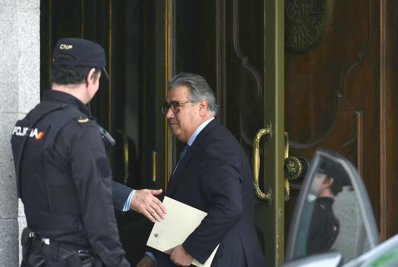 Juan Ignacio Zoido, a su entrada en el Supremo.