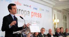 Casado durante el desayuno informativo de Europa Press