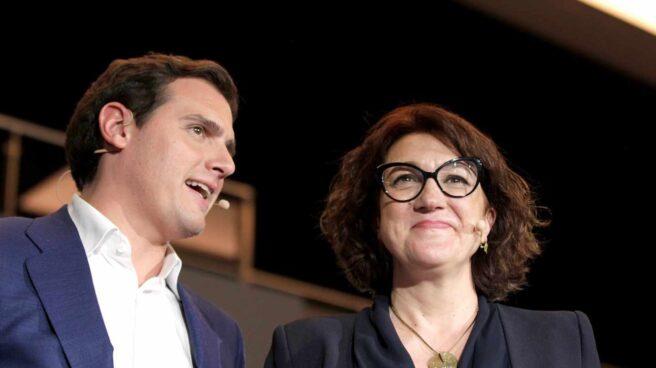Albert Rivera y Soraya Rodríguez, en un acto en Madrid.
