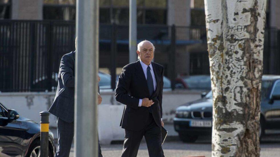 Francisco González llega a la Audiencia Nacional.