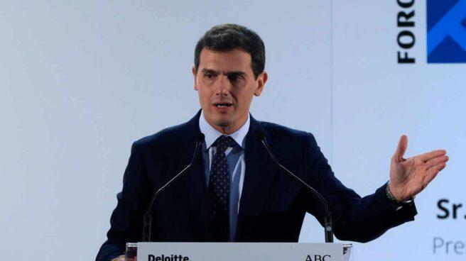 El presidente de Ciudadanos, Albert Rivera, interviene este viernes el Foro ABC-Deloitte que se celebra en Madrid.