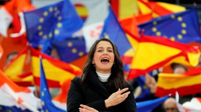 Inés Arrimadas, en un acto de Ciudadanos en Las Rozas.