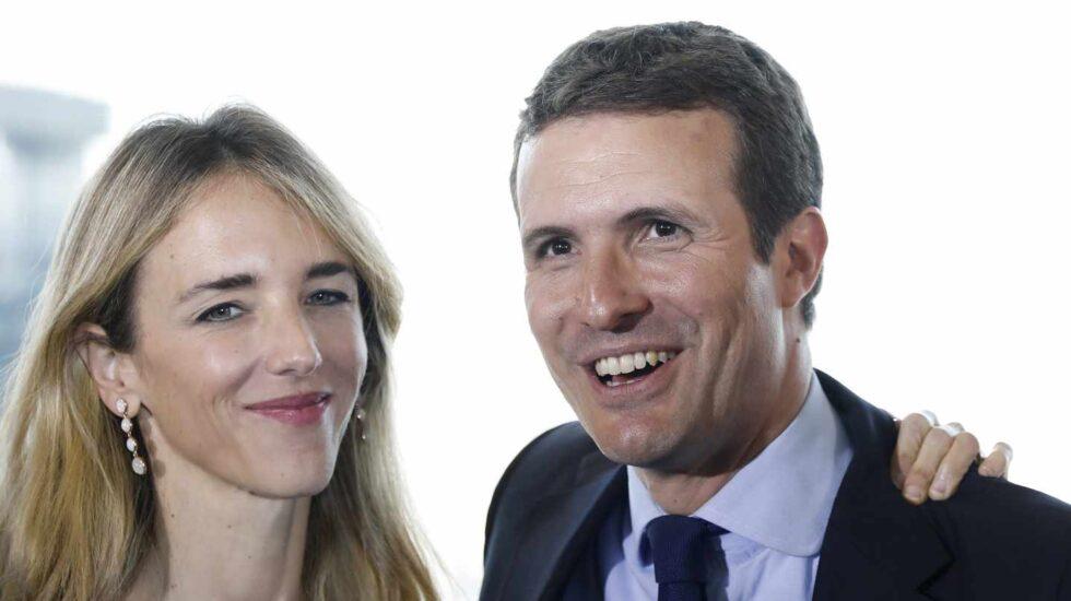 Cayetana Álvarez de Toledo y Pablo Casado, en Barcelona.