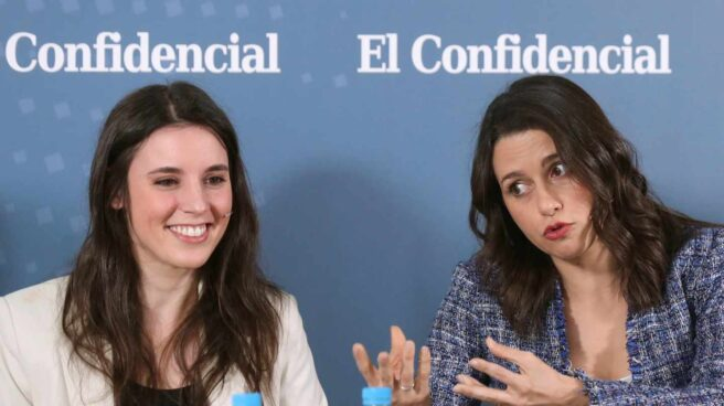 Irene Montero e Inés Arrimadas, en el debate de El Confidencial.