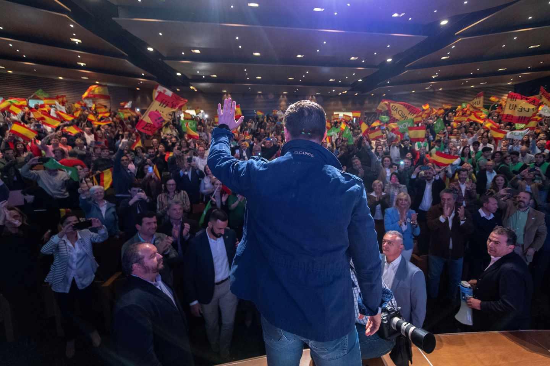 Santiago Abascal, en su acto en Toledo.