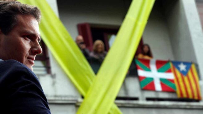 El líder de Ciudadanos durante el mitin ofrecido el pasado domingo en Rentería (Guipúzcoa).
