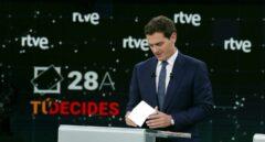 Albert Rivera, en el debate de RTVE.