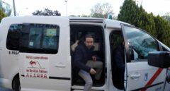 Pablo Iglesias, a su llegada en taxi a la sede de Atresmedia.