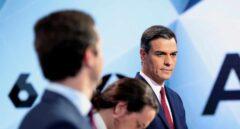 Pablo Casado, Pablo Iglesias y Pedro Sánchez, en un debate antes de las elecciones de abril.