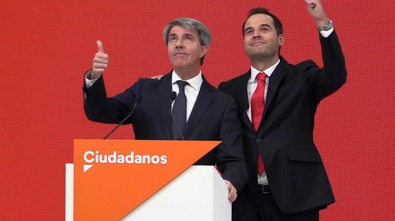 Ángel Garrido e Ignacio Aguado durante el acto de anuncio de su fichaje