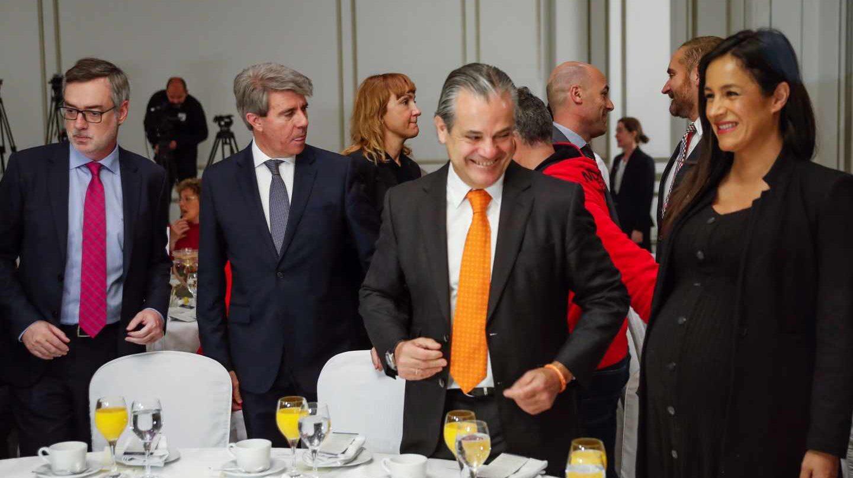 Villegas, Garrido, De Quinto y Villacís, en la conferencia de Rivera.