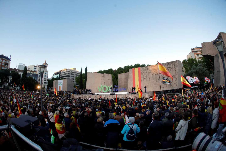 Acto de fin de campaña de Vox en la Plaza de Colón de Madrid.