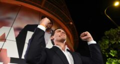 Albert Rivera celebra los resultados de la noche electoral
