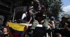 Manifestación en Caracas en apoyo de Guaidó.