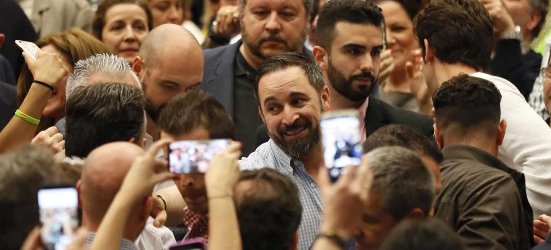 Santiago Abascal, este miércoles durante un acto en Sevilla.