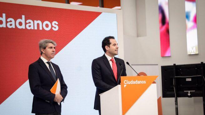 Angel Garrido e Ignacio Aguado, en la sede de Ciudadanos.